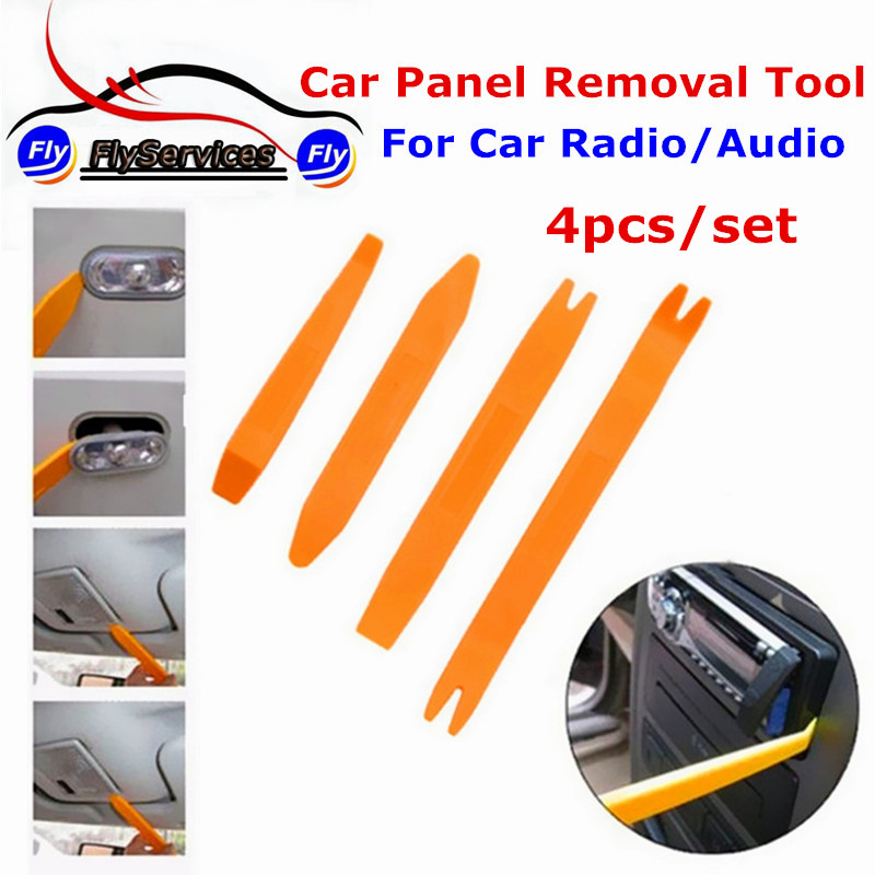 4pcs car radio door clip panel trim dash audio removal open installer pry tool for car dashboard. Black Bedroom Furniture Sets. Home Design Ideas