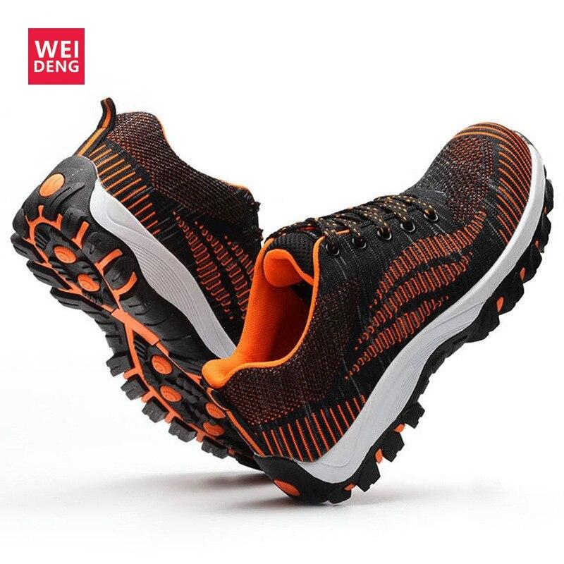À Meados Impacto Ar Trabalho Weideng Ao De Segurança Orange Isolamento Construção green Punção Sapatos Prova Livre Único Resistente Botas Aço Biqueira Owq1Oa7