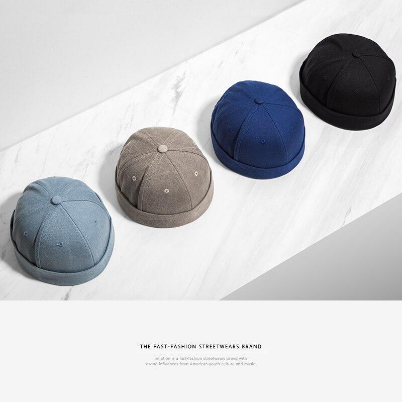L'INFLATION 2017 Nouvelle Chinois-Style Rond Chapeau Unisexe Snapback Quelques Bouchons Bridage Solide couleur Mode Hommes de chapeaux 073CI2017