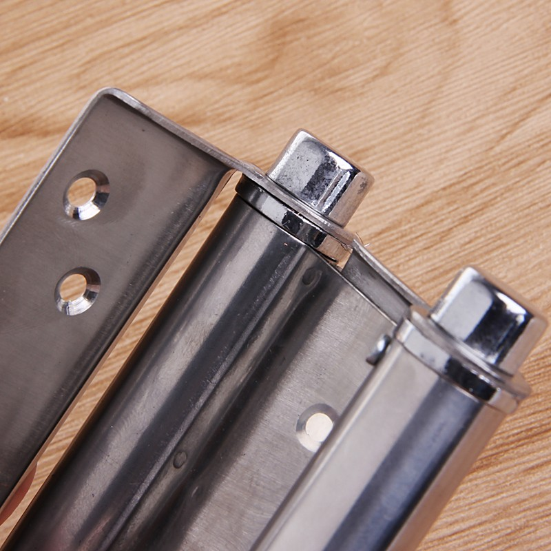 2Pcs 3 quot Inch Stainless Steel Double Action Spring Hinge Saloon Cafe Door Swing Household in Door Hinges from Home Improvement