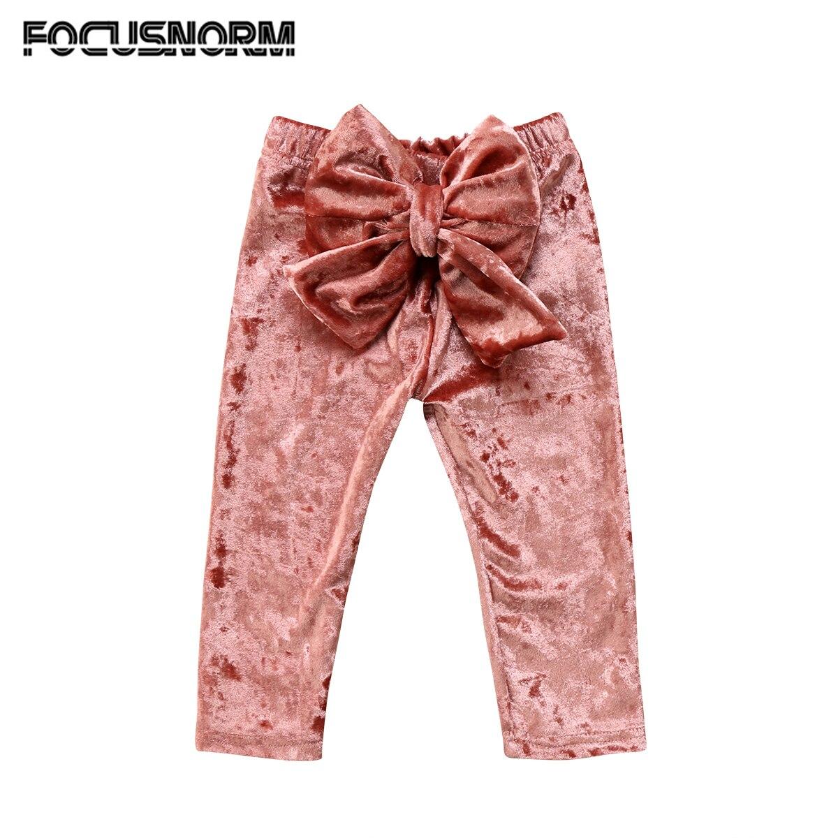 Toddler Kids font b Baby b font Girls Princess Velvet Bowknot Bottoms Straight Long Pants Leggings