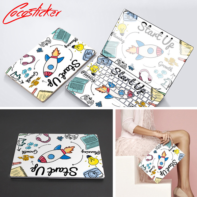 Free Cutting Stickers Skin For Toshiba Series Model Full Cover Vinyl Laptop Skin ABC Sides+Keys+Key Interstice Stickers Sleeve ...