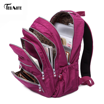 TEGAOTE School Backpack for Teenage Girl Mochila Feminina Women Backpacks Nylon Waterproof Casual Laptop Bagpack Female Sac A Do laptop bag