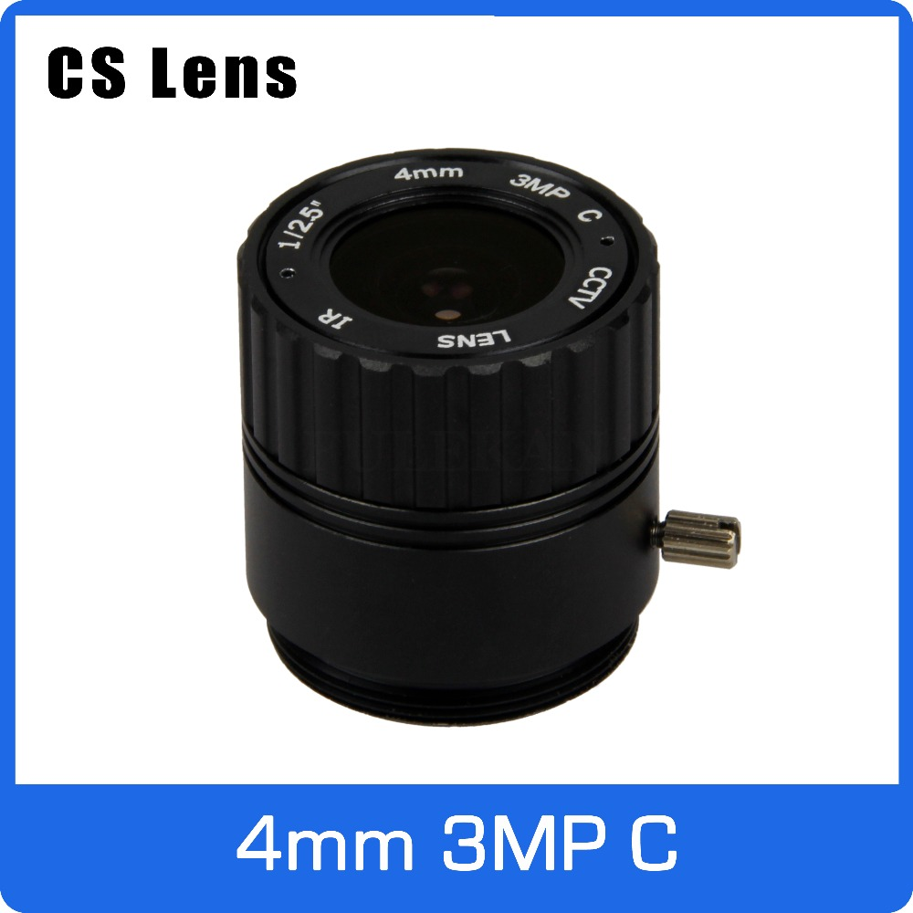 3Megapixel 4mm CS Mount Fixed 1/2.5 inch CCTV Lens For HD 1080P AHD IP Camera Box Camera Explosion Proof Camera Free Shipping 8megapixel varifocal cctv 4k lens 1 1 8 inch 3 6 10mm cs mount dc iris for sony imx178 imx274 box camera 4k camera free shipping