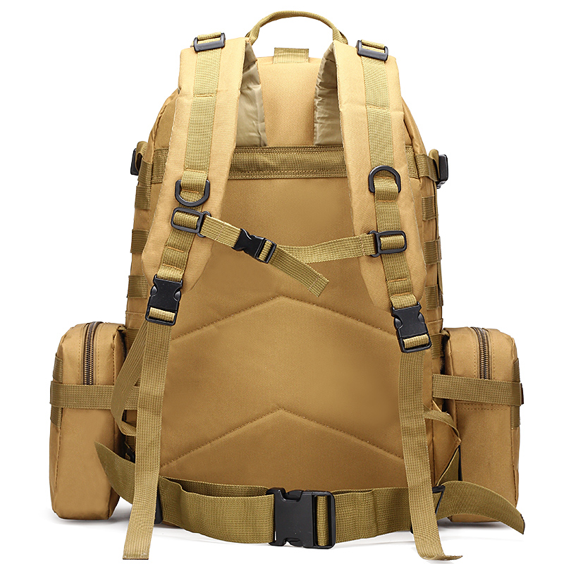 Sacs de sport imperméables 50L combinaison multifonction militaire tactique sac à dos Molle Camouflage Camping escalade sacs - 4