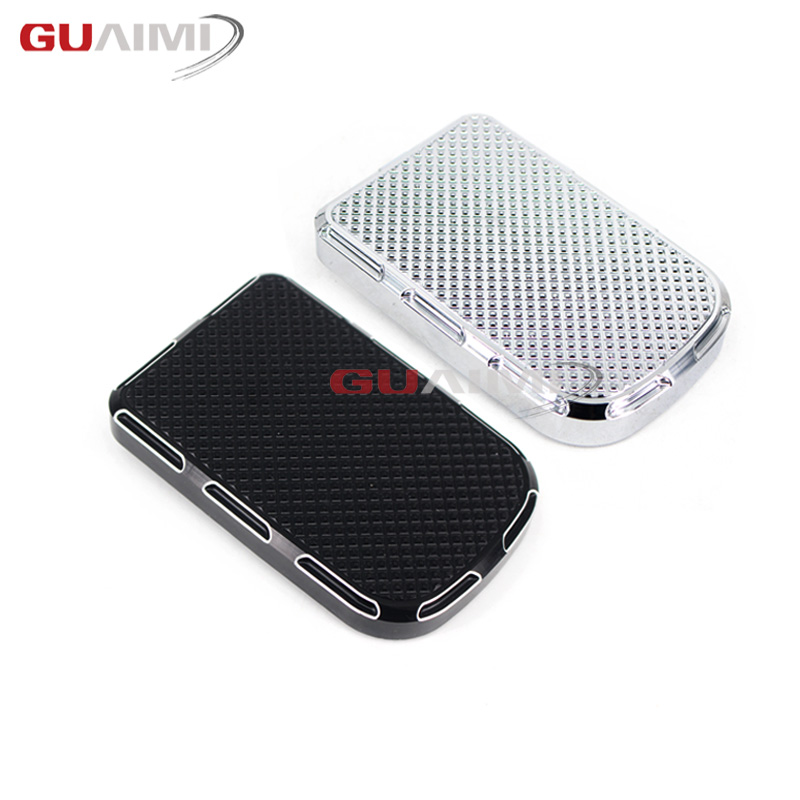 Motocycle Brake Pedal Cover Edge Cut Large Parts Black For Harley Touring Street Glide Road King Softail Dyna FLTR matte black 5 stretched hard saddle bags latch side bag for harley road king road street glide softail dyna and sportster 93 13