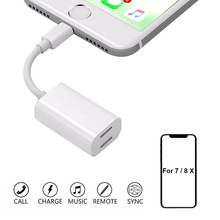 Double jack Audio Adapter For Lightning Headphone Support iOS 12 Charging Music or Call for iphone 7/8/X XS XR Adapter Converter double jack audio adapter for iphone 7 8 x xs xr support ios 12 charging music or call for lightning headphone adapter converter