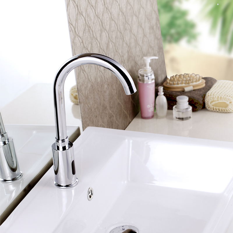 Automatic sensor tap infrared Sensor water saving Faucets Inductive Kitchen bathroom cold water tap or cold and hot mixer tap 01 xueqin automatic inflared sensor faucet cold hot water bathroom sink copper water saving inductive tap deck mount with hose