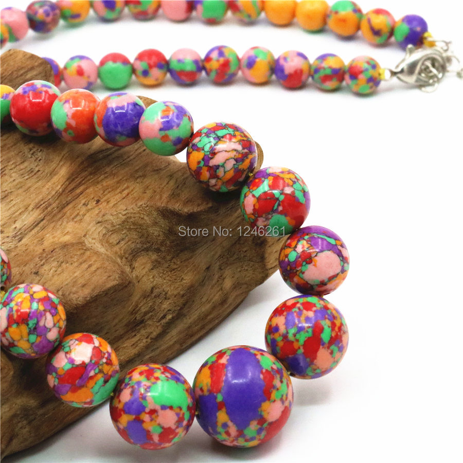 6-14mm Accessories Rainbow Multicolor Turkey Tower Necklace Chain For Women Girls Christmas Gifts Fashion Jewelry Making Design