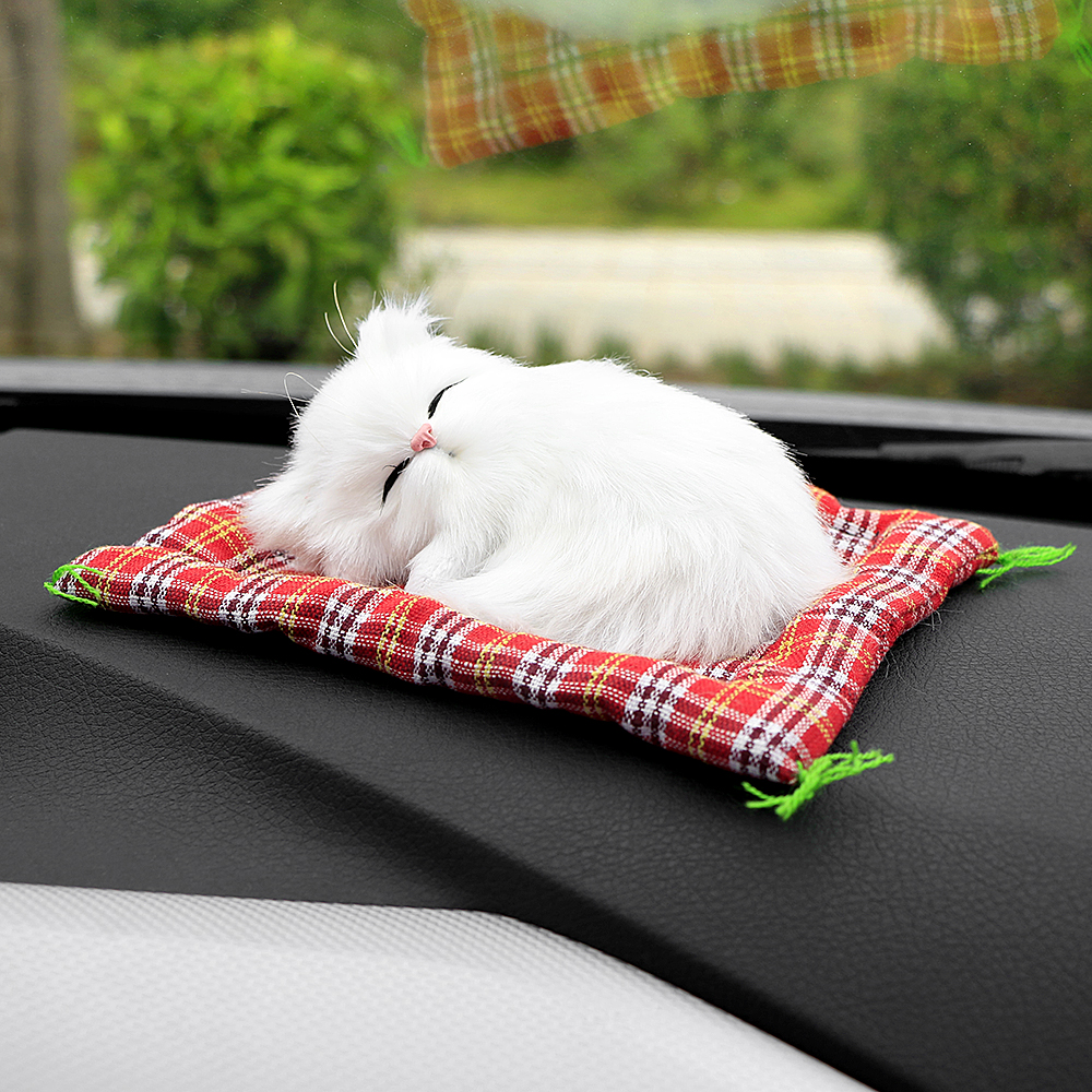 2018 Car Ornaments Cute Simulation Sleeping Cats Decoration Automobiles Lovely Plush Kittens Doll Toy Children Gifts Accessories