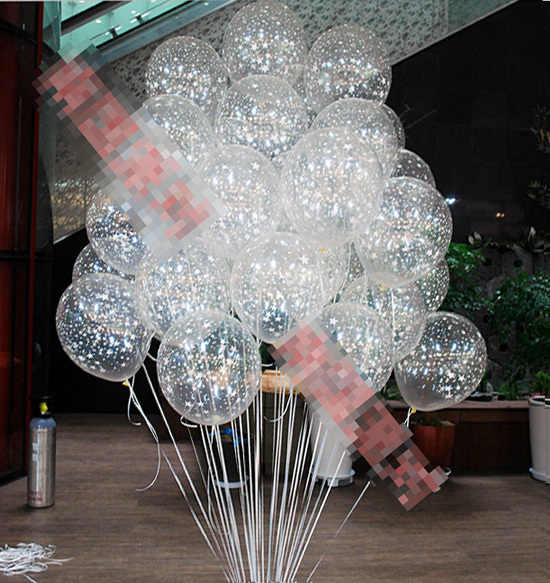 round 12inch=30cm clear star romatic pearl Latex Balloons helium hydrogen for Birthday Wedding Party decor Wholesale retail