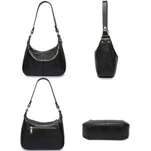 Image 3 - Zency 100% Genuine Leather Classic Black Women Shoulder Bag Fashion Crossbody Messenger Purse For Female High Quality Handbag