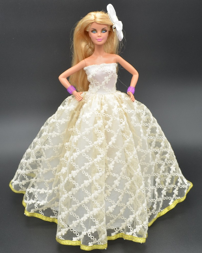 La nueva princesa para barbie doll dress toys niñas juguetes original doll clothes gift single nupcial regalos girl