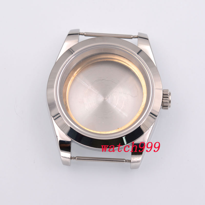 40mm Sterile Sapphire Glass Automatic Men Watch Case Fit ETA2836 2824 Miyota 8215 Movement