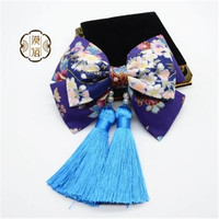 2018 New Handmade Ornaments Japanese Hairpin Lovely Headdress Bow Tie hairpin Lolita Accessory