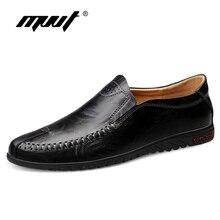 Klasik rahat loaferlar üzerinde kayma erkekler rahat deri ayakkabı erkekler Flats sıcak satış sürüş ayakkabısı Moccasins artı boyutu