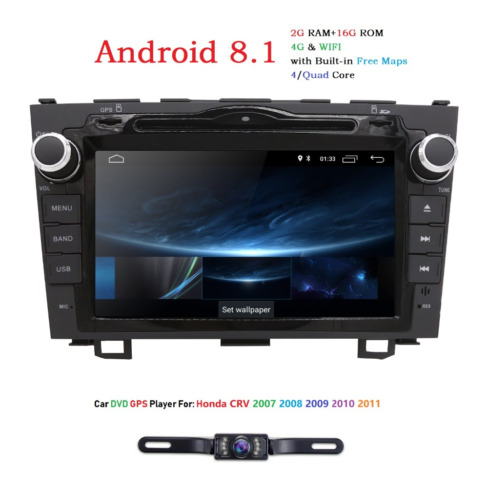 Latest 2GB <font><b>RAM</b></font> 2Din <font><b>Android</b></font> <font><b>8.1</b></font> Car <font><b>autoradio</b></font> stereo head unit GPS multimedia system DVD player for Honda CRV 2007-2011 DAB+TPMS image
