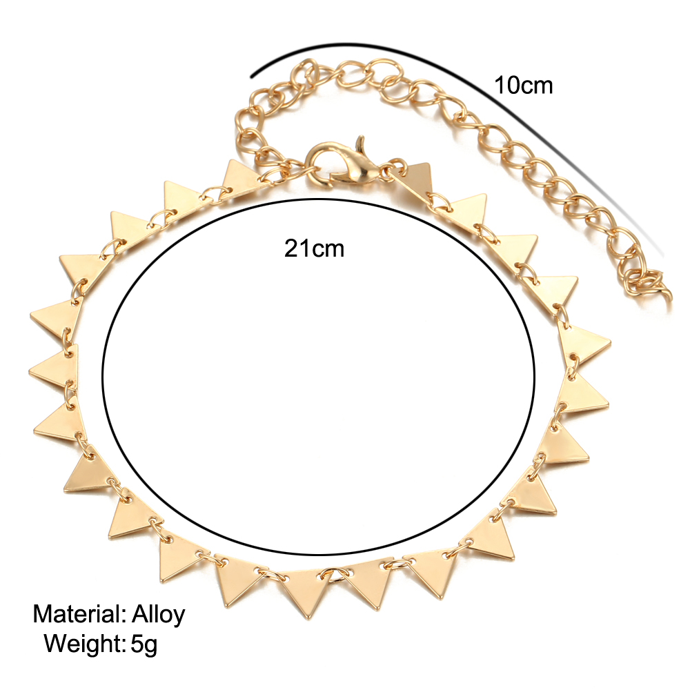 HTB1bFElQXXXXXa6XXXXq6xXFXXXL Charming Triangle Geometry Fashion Anklet