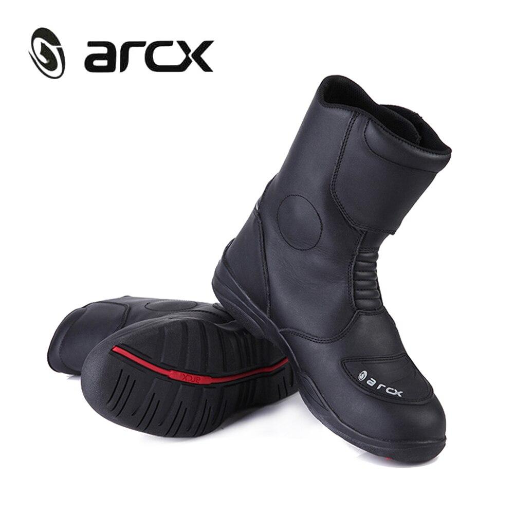 ARCX véritable moto rcycle cuir de vache bottes étanche moto rbike Chopper Cruiser Touring moto botinki moto chaussures de course moto rcycle