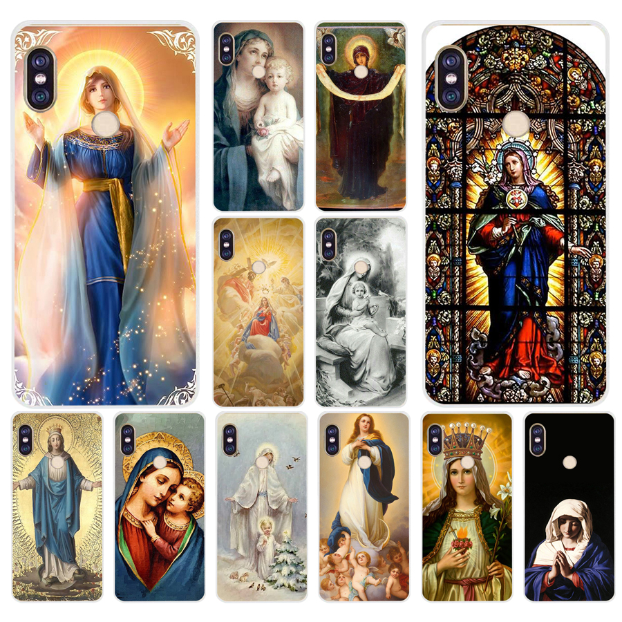 156A Virgin Mary Christian Soft Silicone Tpu Cover phone Case for xiaomi redmi 6 pro note 6 pro 5 plus 4  4x mi 8