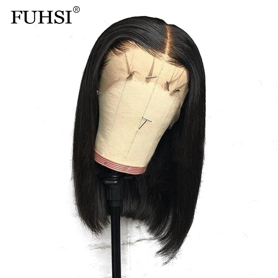 Straight Short Bob 360 Lace Frontal Human Hair Wigs For Women Brazilian Remy Hair Wigs Pre