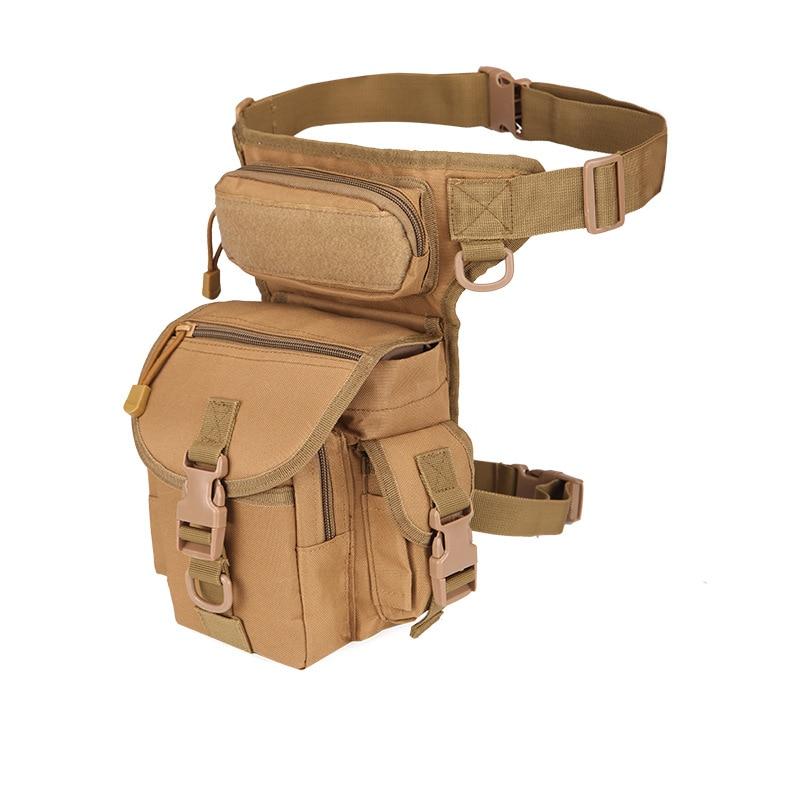 Men's Military Camouflage Drop Leg Bag Panel Utility Waist Belt Pouch Pack Shoulder Bags Oxford Fanny Packs Men Belt Hip Bum Bag