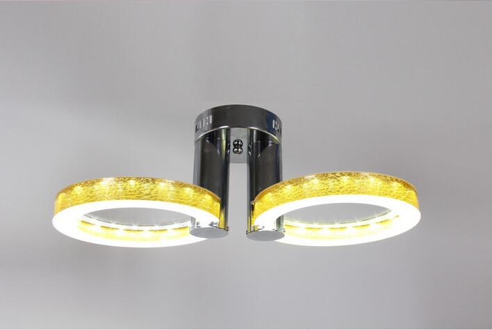 LED Ceiling Lights Acrylic with 2  lights (Chrome Finish) silver led 9w acrylic ceiling light with 2 lights chrome finish size 65 65 20cm 85 265v