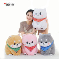 1 piece Cartoon Scarf Shiba Inu Dog Plush Toy Shiba Inu Pillow Blanket Great Birthday Gift for Children Soft cushion
