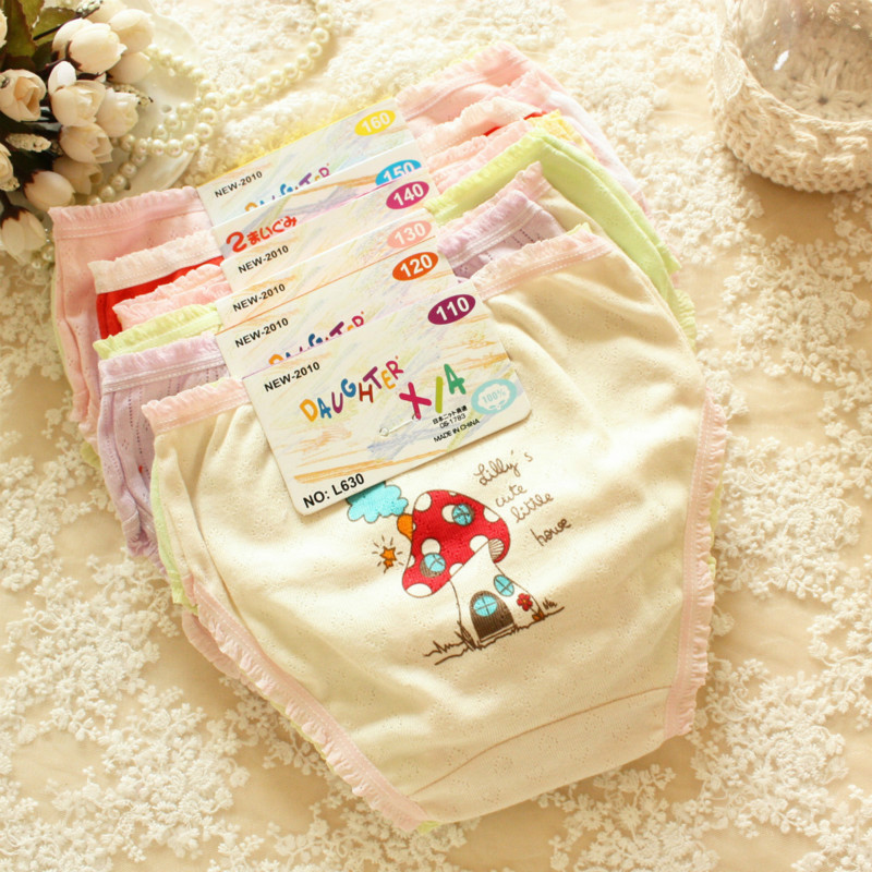 Buy Special offer!! sale 8 pcs/lot  100% cotton print cartoon patterns baby girl underwear panties 2-7 years