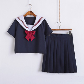 Orthodox School Girl Uniform Skirt Sailor Shirt Suits Basic Spring Summer Short Long Sleeve Kansai Japan School Uniforms christal whelan kansai cool