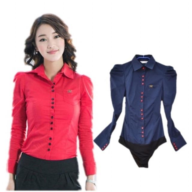 1087c6d803 Blusas para mujeres talla Plus de 2019 de Moda de Primavera Casual Camisa  cuerpo Slim de