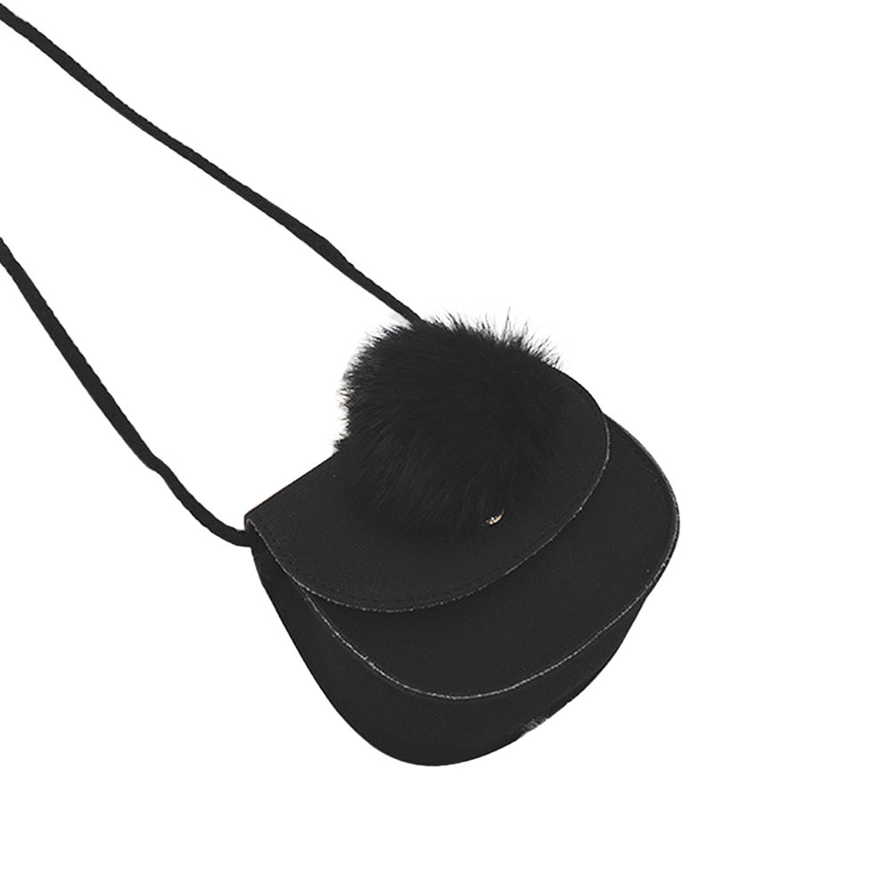 Children Grils Shoulder Bag Cute Hairball Leather Handbag Shoulder Bag Mini Crossbody Drop Shipping Bags womens handbags A8