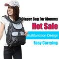 Envío gratis de pañales mochila marca moda del bolso 600D impermeable del bolso del bebé