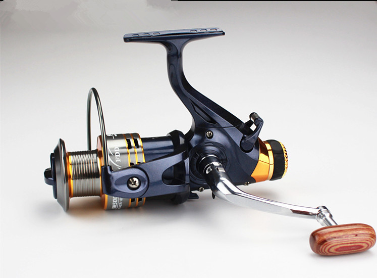 Double brake system front and back sw5000 6000 11bb bass for Bass fishing spinning reels