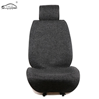 Slim Design Front Car Seat Covers Universal Linen Seat Cushion Cover Protection Auto Seat Fit Interior