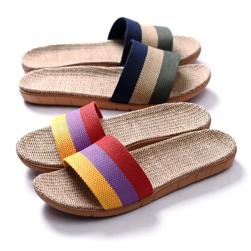Estate Pantofole Lino  Multi-stile Uomini-Donne Casual antiscivolo