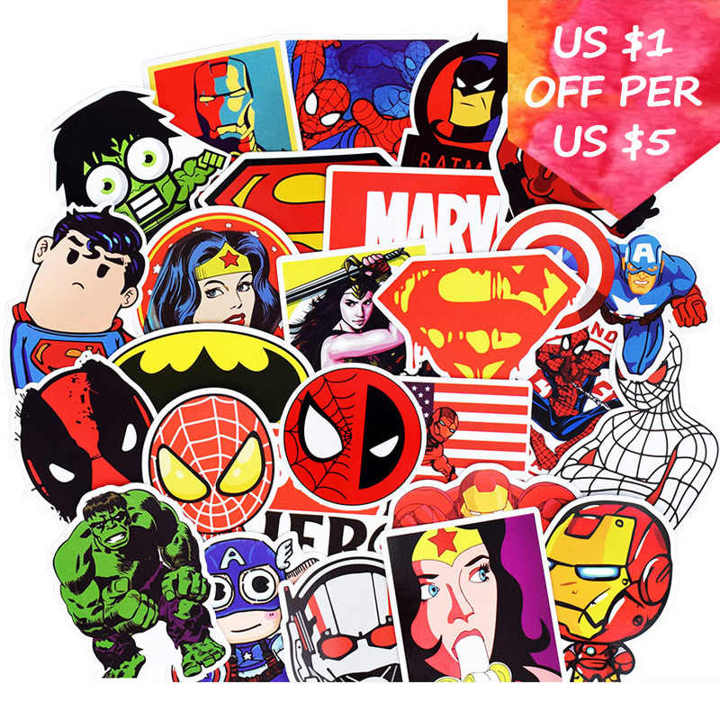 50Pcs Super Hero สติก