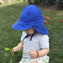 Детские быстросохнущие хлопковые дышащие солнцезащитные очки, детская Солнцезащитная Регулируемая машина, Пляжная шапочка для купания