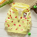 Новый 2017 Бесплатная Доставка Девушки Осень Ребенка Кардиган Пальто Мультфильм Hello Kitty Толстовки Детей Clothing Baby Свитер