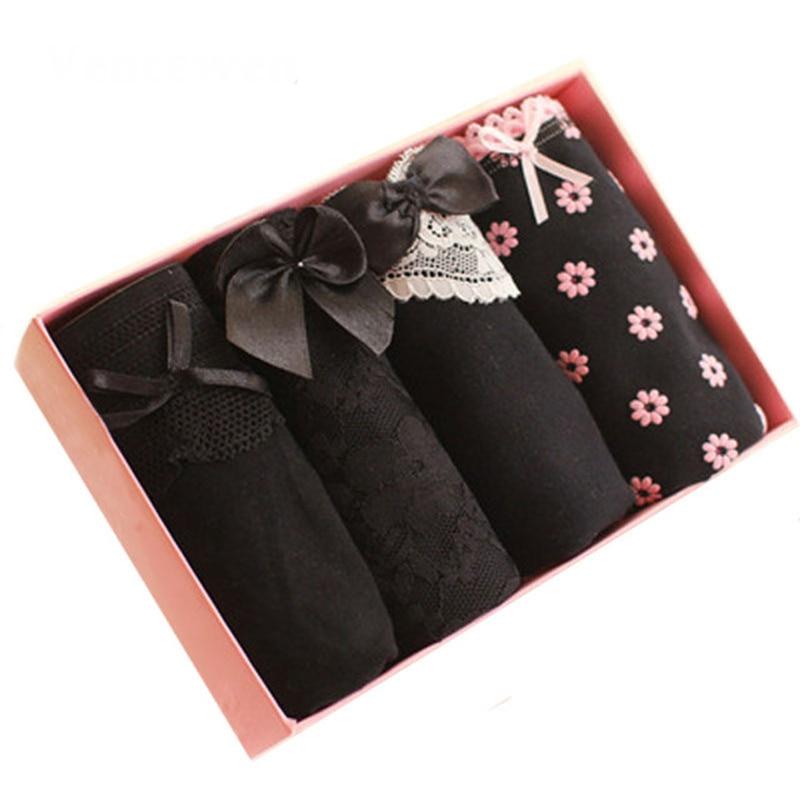 4Pcs/Lot Women Underwear Plus size S-4XL Cotton   Panties   Sexy Calcinha Bragas Mujer Printing Briefs   Panty