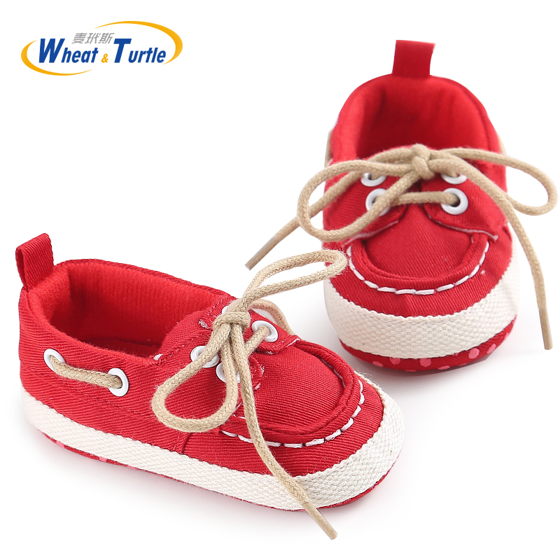 Mother Kids Baby Shoes First Walker Canvas Soft Footwear For Boys Girls Newborn Casual Lace-up Sneakers