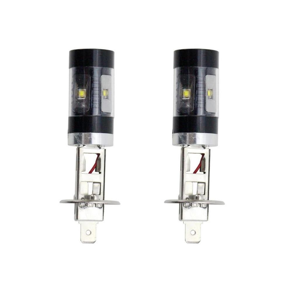 2pcs High Bright White H1 30W 6SMD LED Car Fog Lamp Replacement Bulb High Power DC12V