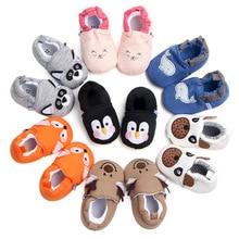Zapatos para bebé de dibujos animados bonitos recién nacidos niños niñas primeros andadores planos suela suave antideslizante zapatos calzado botines para niños pequeños