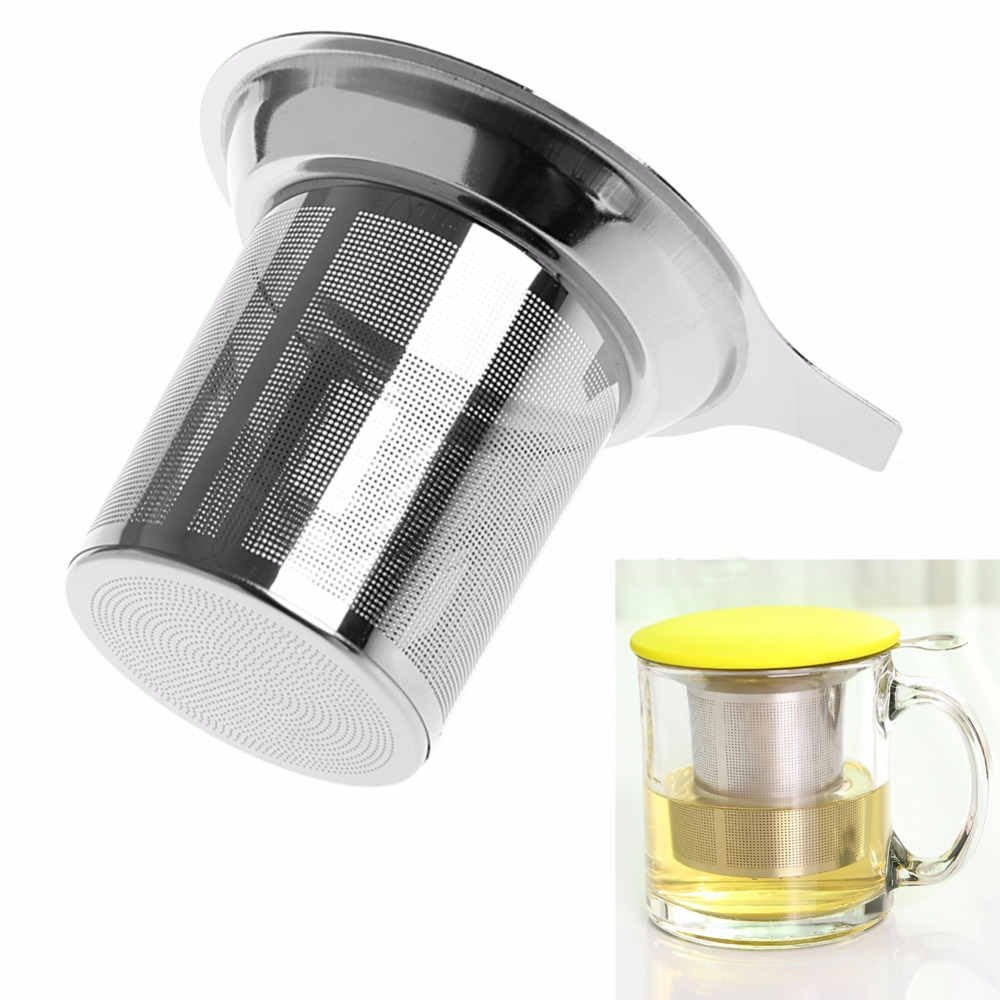 New 1Pc Chic Stainless Steel Mesh Tea Infuser Metal Cup Strainer Tea Leaf Filter Sieve america market 100 pieces mixed botany zoology histology microscope prepared slides