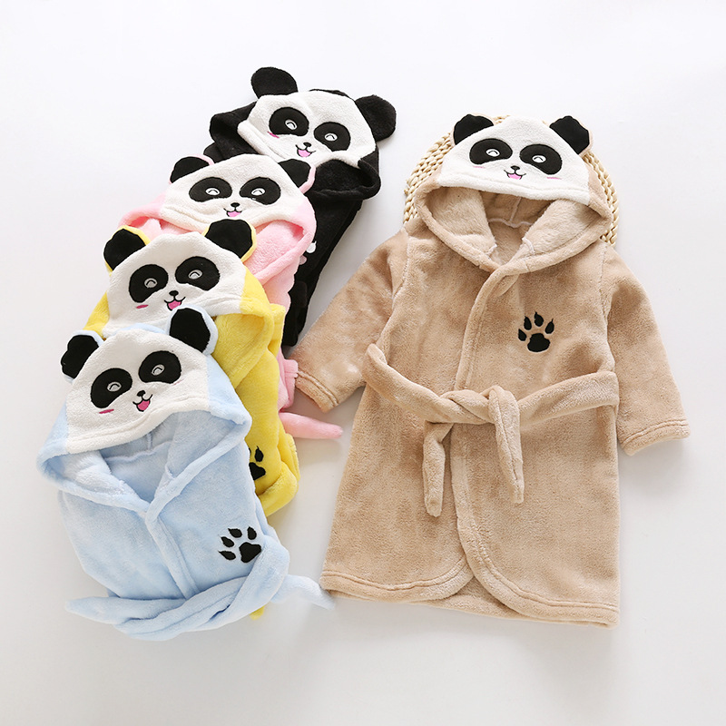 High Quality Kids Unisex Pajamas Cosplay Costume Sleepwear Panda Bathrobe Robe pyjamas Animal Onesie pijamas