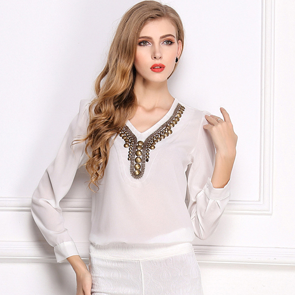 Online Buy Wholesale designer white blouses from China designer ...