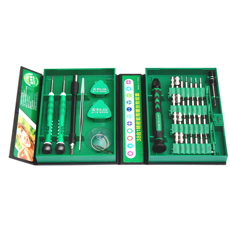 Chaves de Fenda Precisas Definir 38 LAOA em 1 Ferramentas de Reparação Kit de Ferramentas de Reparo para Telefones Celulares Iphone Relógio Relógio LA613138