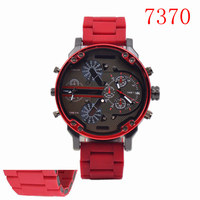 Luxury Brand DZ Style 7370 Men Alloy Metal Watch Army Big Size Dual Time Male Casual Watch Military Wristwatch Relogio Masculino