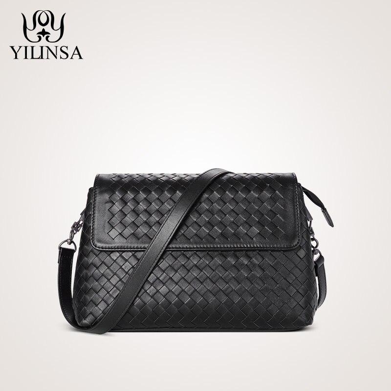 يد جلد الغنم اليدوية الحياكة Corssbody السيدات حقائب كتف جديد أزياء البرية صغيرة محفظة-في حقائب قصيرة من حقائب وأمتعة على  مجموعة 1