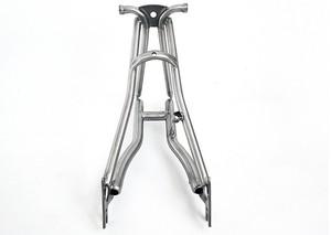 Image 1 - Titanio Triangolo Posteriore fit Brompton bici 135 millimetri di larghezza e forcella anteriore per rottura del disco di larghezza 100 millimetri